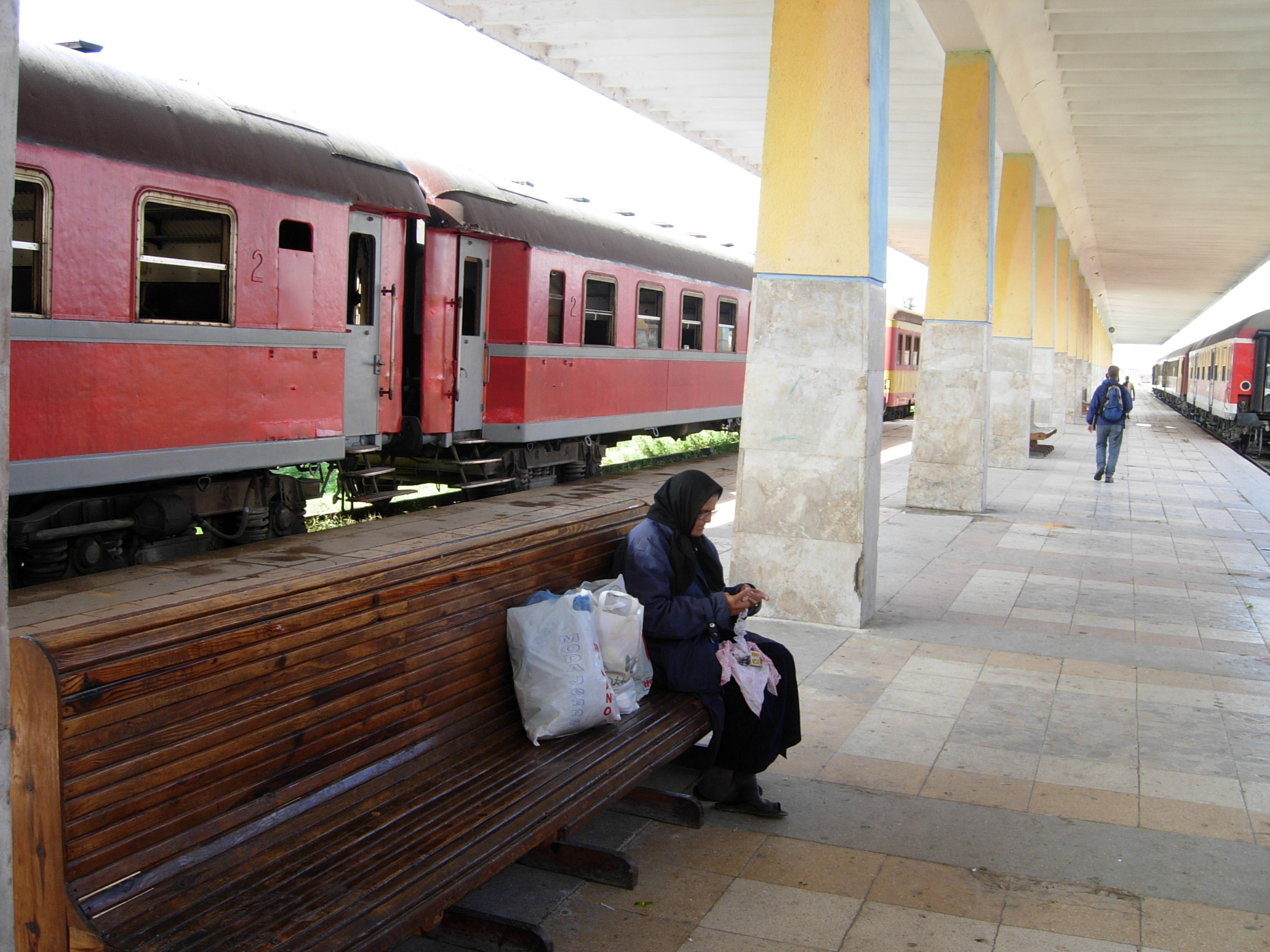 Albanian Train Travel On Track