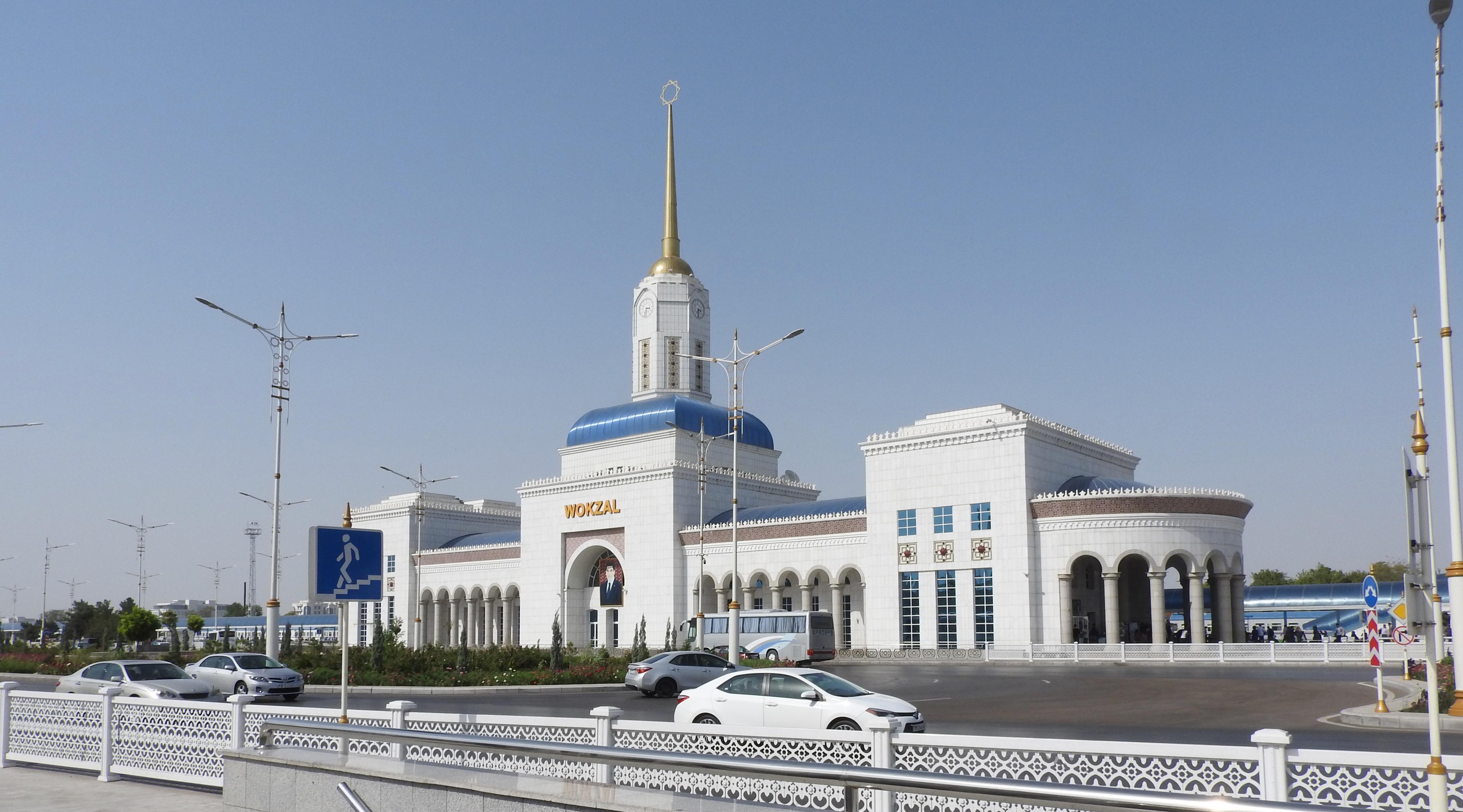 Ashgabat Central Station, Turkmenistan