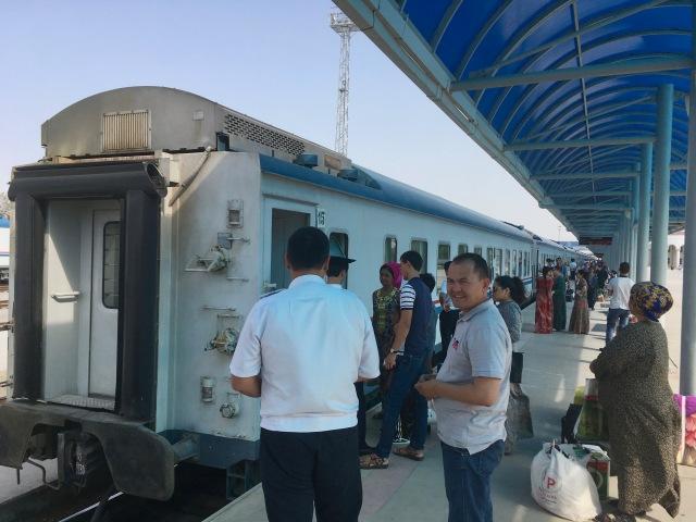 Boarding Ashgabat