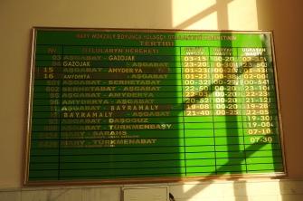 Mary Train Destinations Board