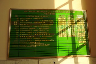 Mary Train Destinations Board