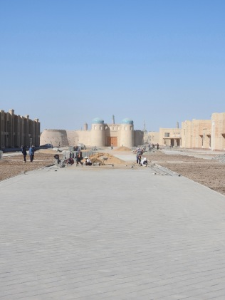 Path from Khiva Station to Old Town