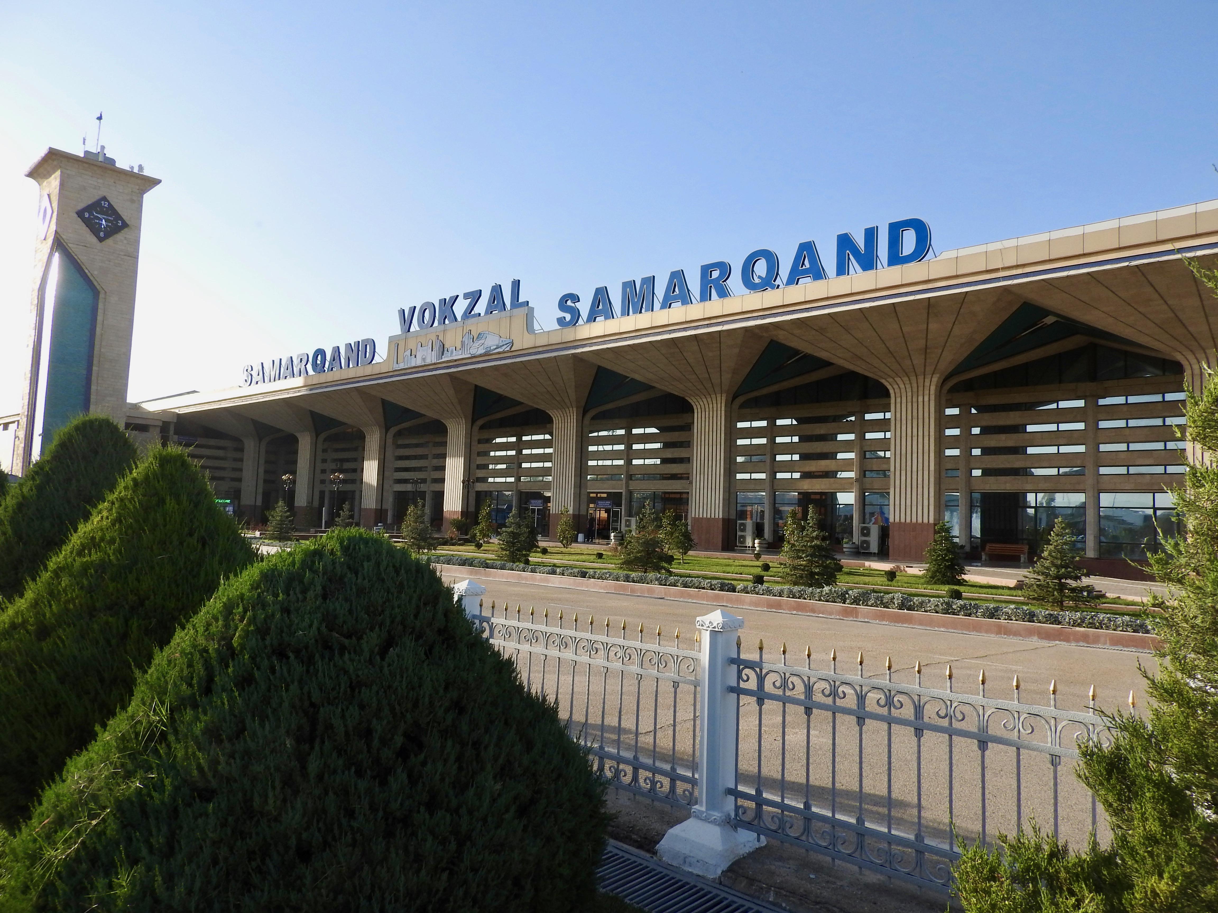 Samarkand Train Station, Uzbekistan